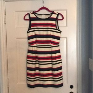 JCrew Striped A-Line Dress Small